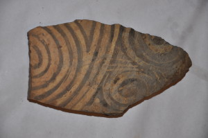 Fragment ceramic pictat, cultura Cucuteni, Hândreşti
