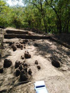 Urmele primei locuințe descoperite în sit